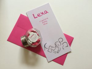 geboortekaartje Lexa